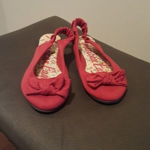 American  Eagle red sandal